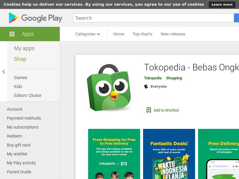 Tokopedia Android ID (CPS=purchase)