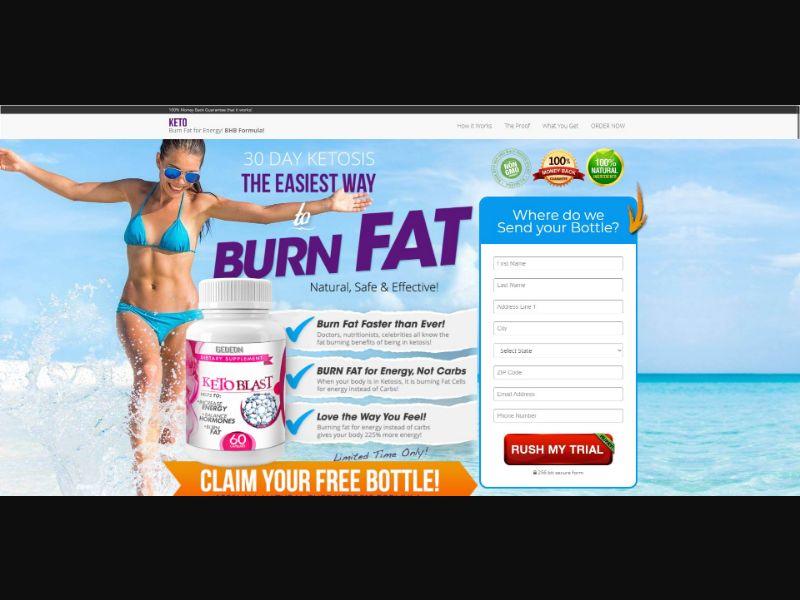 Gedeon KetoBlast - Diet & Weight Loss - Trial - [US]