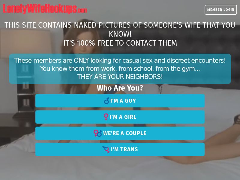 Trial - LonelyWifeHookups.com [US,CA,UK,AU,NZ] (Email,Social,Banner,PPC,Native,Push,SEO,Search) - CPA