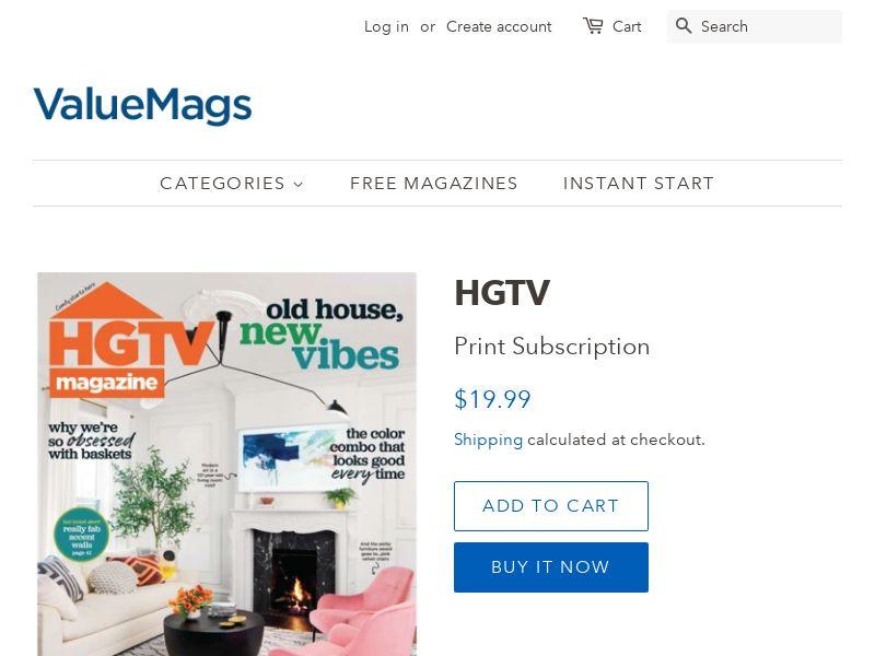 HGTV - Magazine Subscription | US