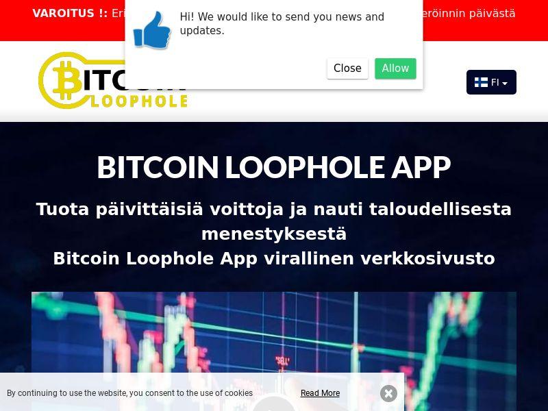 Bitcoin Loophole Pro Finnish 2070