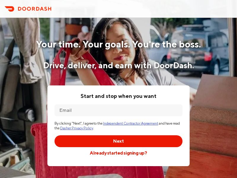 DoorDash Driver Acquisition Program - Business Opportunity - US