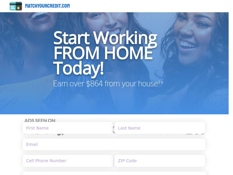 MatchYourCredit.com - Start Working FROM HOME Today!   US