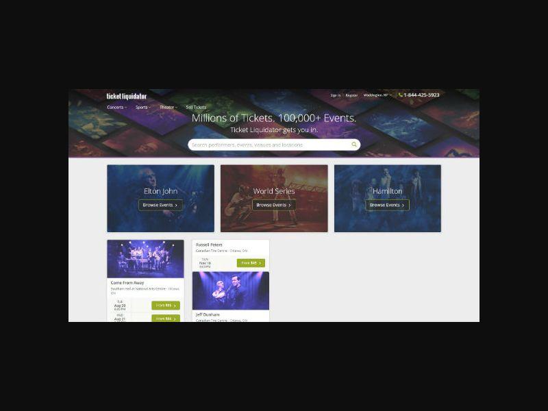 TicketLiquidator.com - Event Tickets (US,CA,AU,NZ,UK)