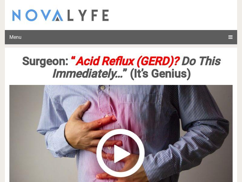 "NOVALYFE - Surgeon: ""Acid Reflux (GERD)? Do this immediately - US"