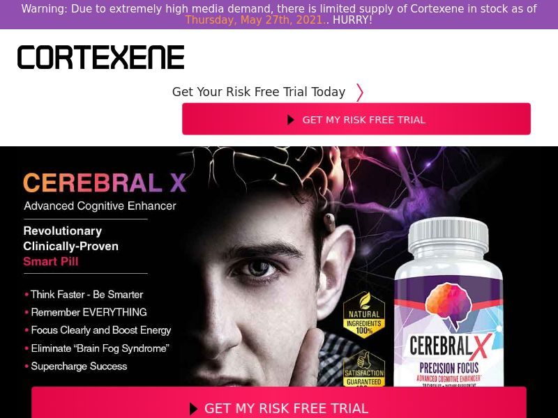 Upsell for Cortexene Nootropic Brain (Trial W/1 Click Upsell) (US)