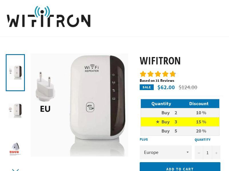 Wifitron (AT, AU, BE, CA, CH, DE, DK, ES, FI, FR, IE, IL, IT, JA, MX, NL, NZ, PT, SE, SG, UK, US)