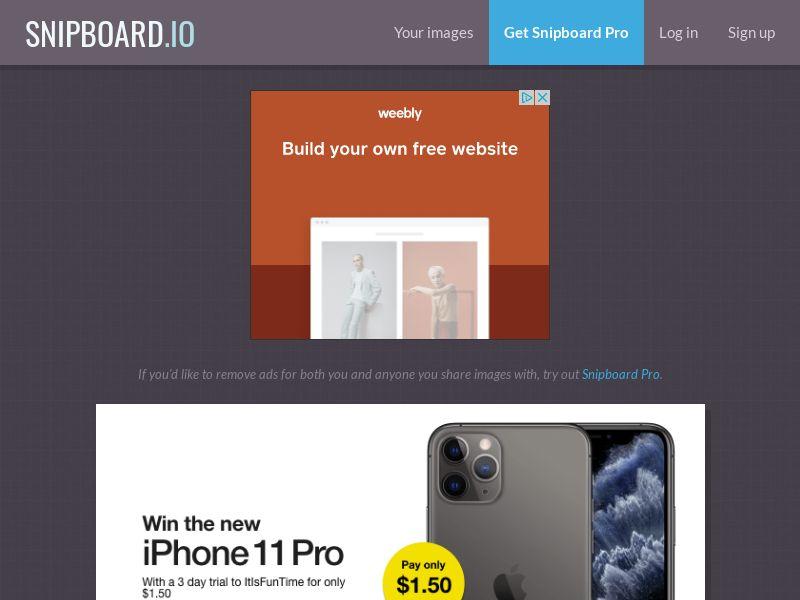 PrizeOffers Public - iPhone 11 Pro - CC Submit