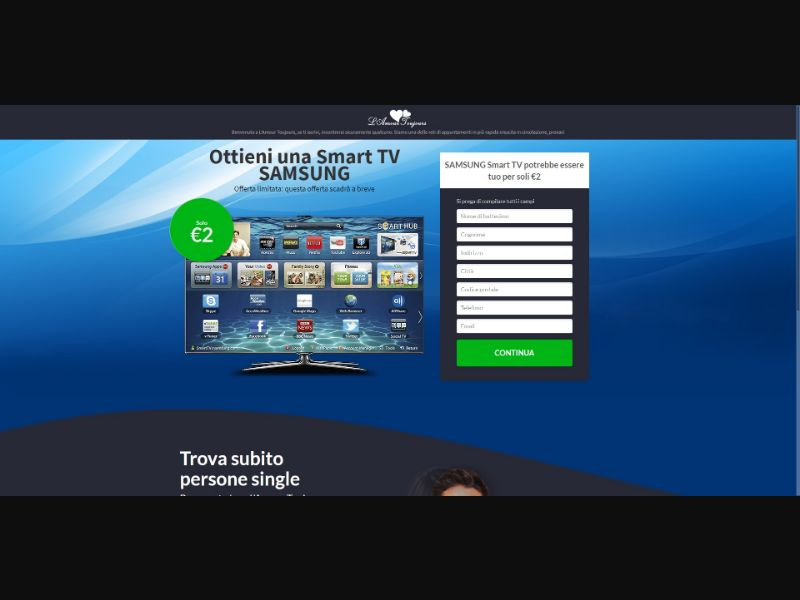 L'Amour Toujours Samsung Smart TV - Sweepstakes & Surveys - Trial - [IT]