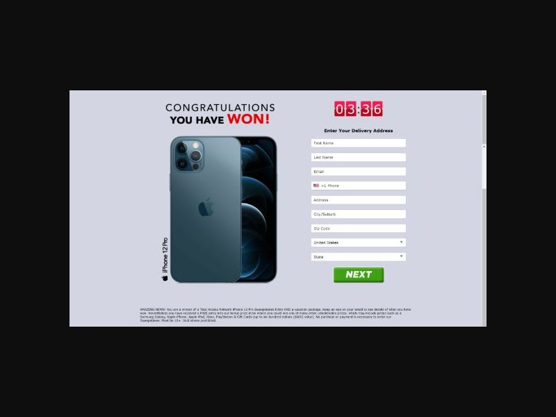 Total Access - iPhone 12 Sweepstakes (US)