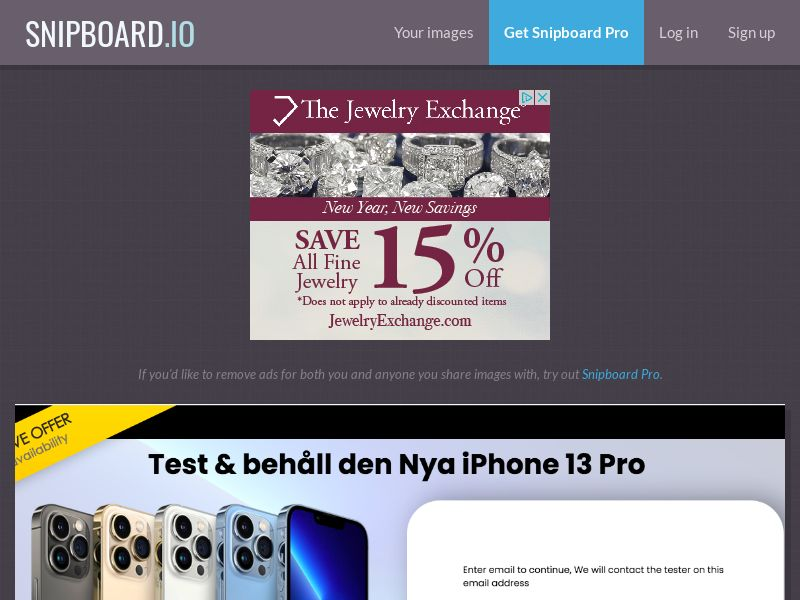ConsumersConnect - Test & Keep the new iPhone 13 Pro SE - SOI