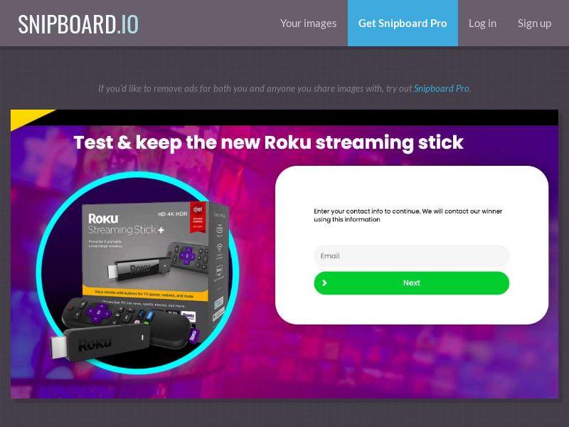 38433 - US - FORYOUPROMO - Roku Streaming Kit - SOI