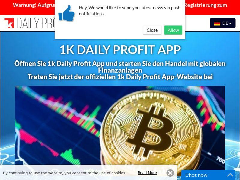 1k Daily Profit App German 2747