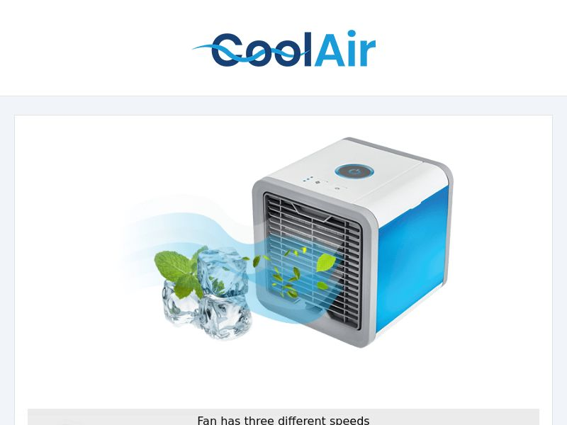 CoolAir - Portable Purifier/Cooler/Humidifier (US/Multi Geo) - Twice Monthly NET7 Advertiser