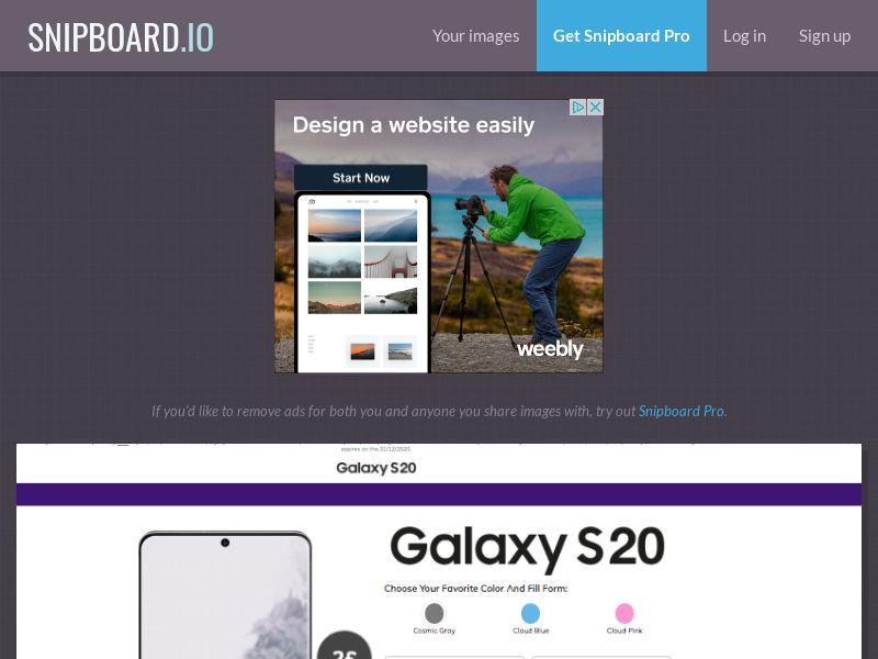 BigEntry - Samsung Galaxy S20 v1 UK - CC Submit