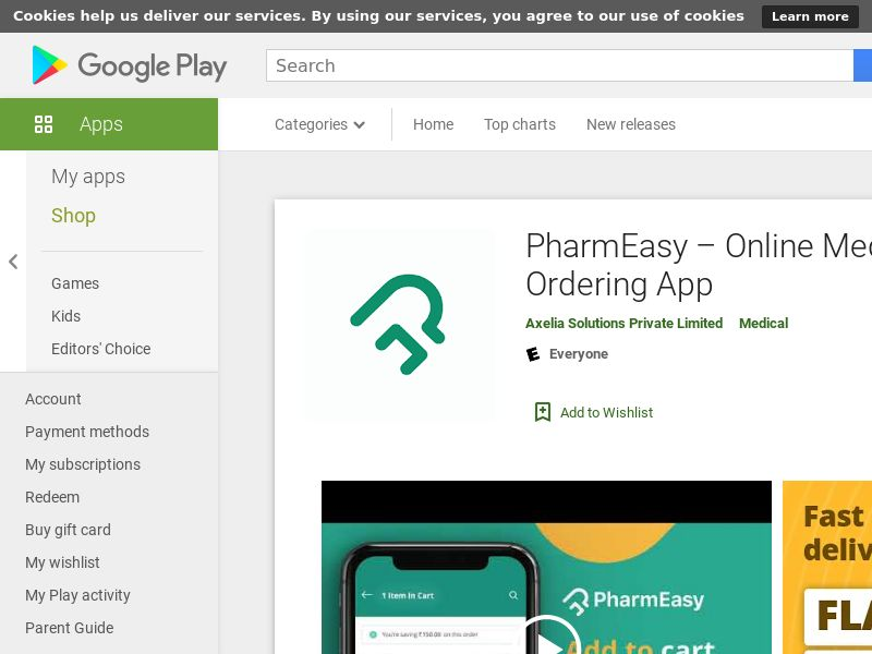 PharmEasy – Online Medicine Ordering App - Android IN (CPS=purchase)