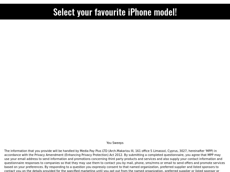 Sweepstake Iphone XS v.2 - CPL - [AU]