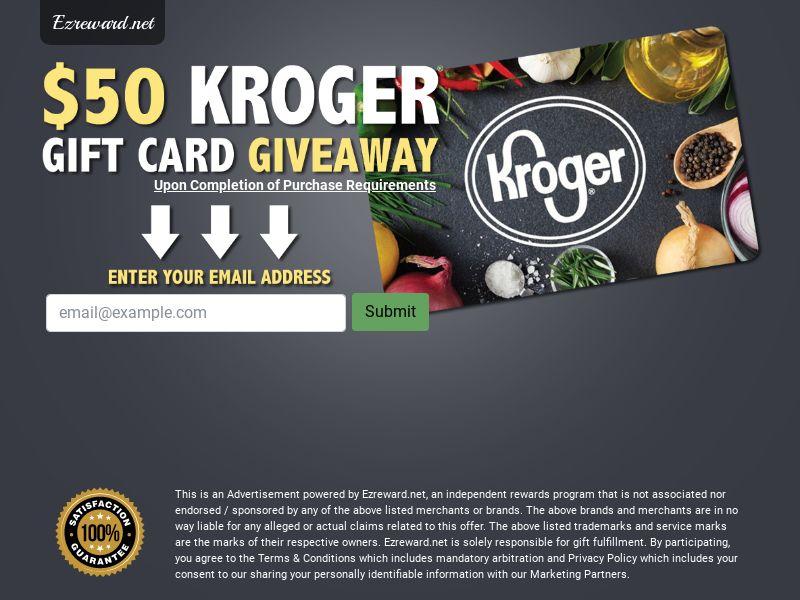 $50 Kroger Gift Card - Networks - US (Incent) - CPL - DIRECT