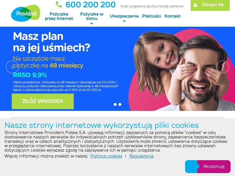 Provident: Pożyczka Samoobsługowa PL CPL+CPS