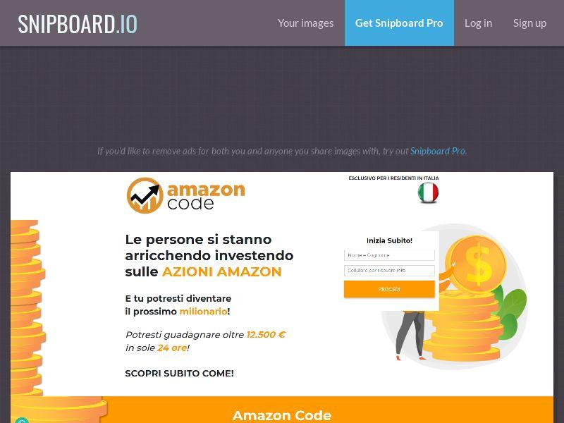 40281 - IT - Amazon Code Long - IT - 50 leads/day - CPL