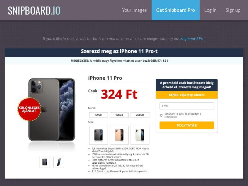 37410 - HU - CreditSupport - iPhone 11 Pro (Amazon) - CC submit