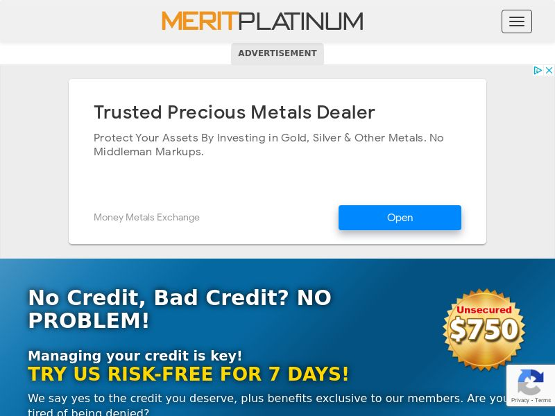 Merit Platinum - Short Form (US) (CPL) (Incent) (Personal Approval)