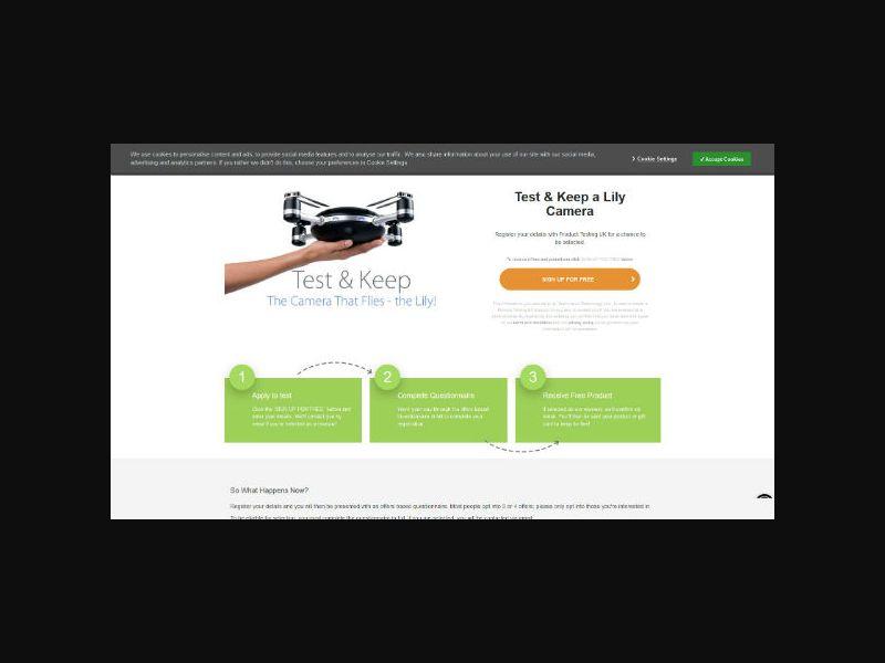 Product Testing - Lily Camera (UK)