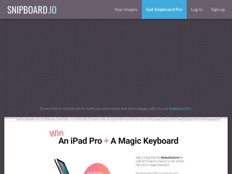 41557 - US - iPad Pro, Magic Keyboard + TV Exclusive - Trial - CC submit