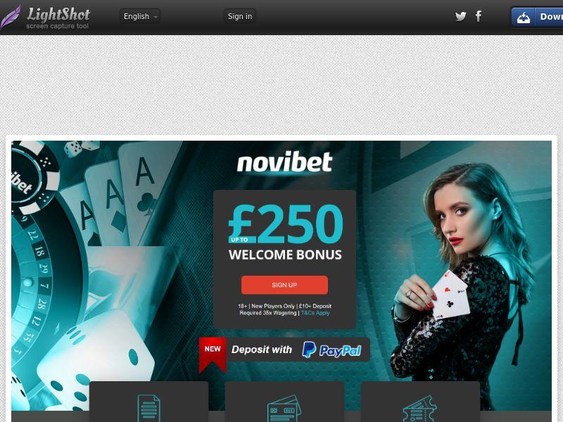 [WEB/MOB] Novibet.com Casino CPA /UK
