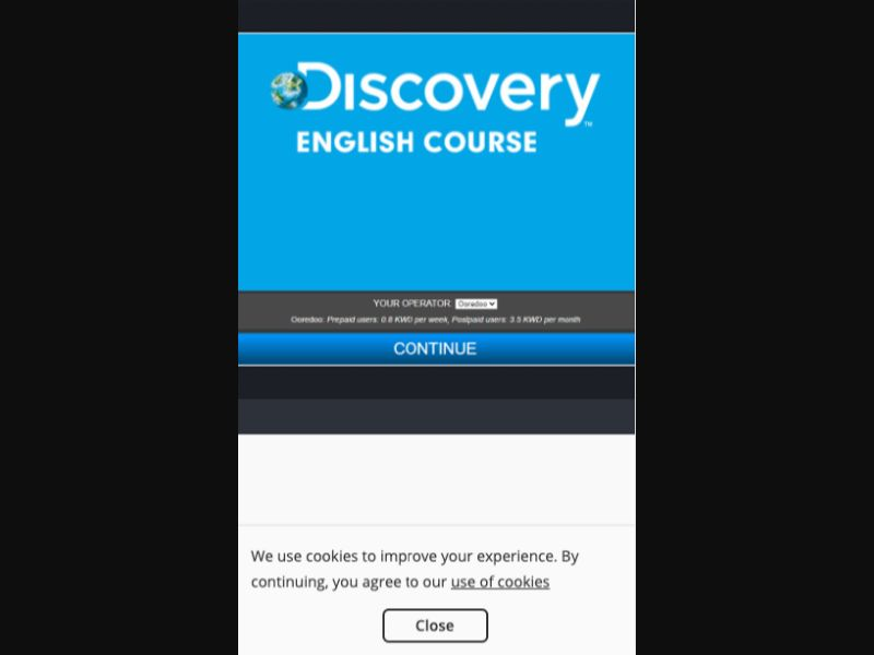 Discovery English Course - 1 click - KW - Ooredoo - Other - Mobile