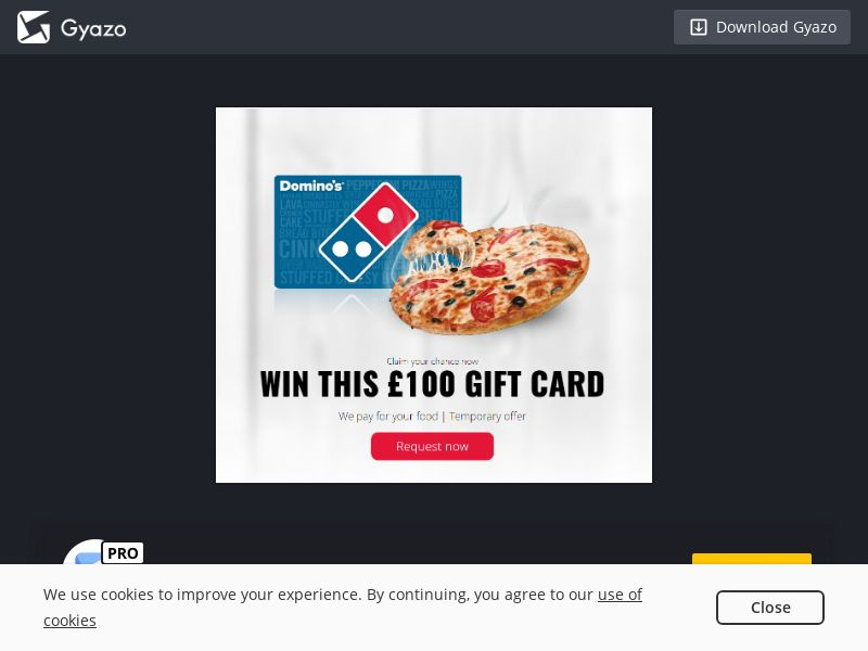 Thesecret4you - £100 Domino's Giftcard (UK) (CPL) (Incent) (Personal Approval)