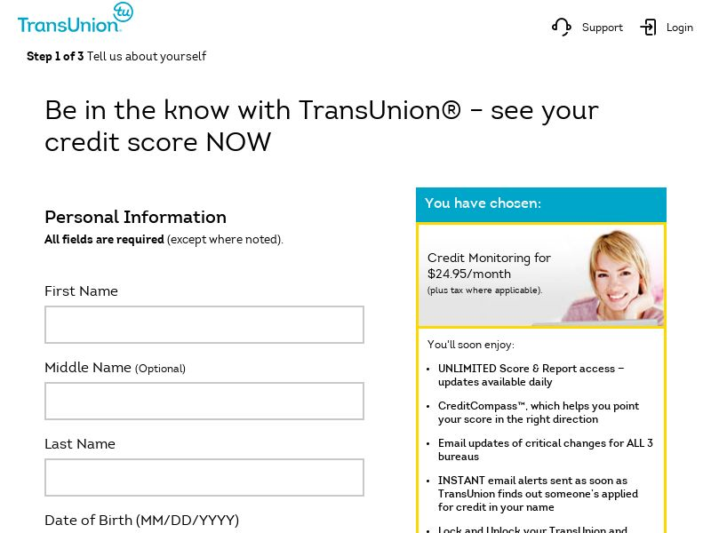 TransUnion Credit Scores CPS (*Private Offer*) - US <<*PENDING*PRIVATE OFFER*>>