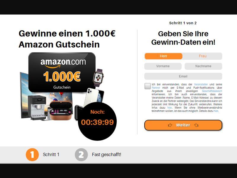 DE - Amazon €1000 Voucher (DOI) [DE] - DOI registration