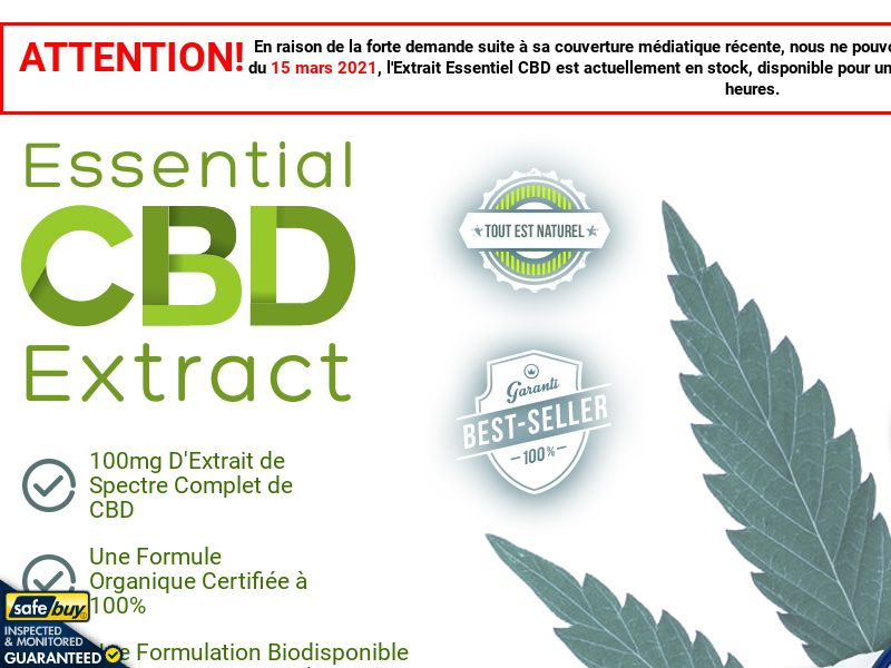 Essential CBD Extract (French) - FR/CH/BE