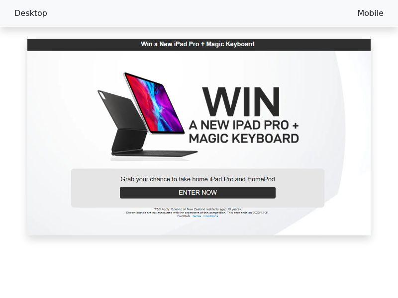 New iPad Pro + Magic Keyboard - CPL/SOI - [NZ]