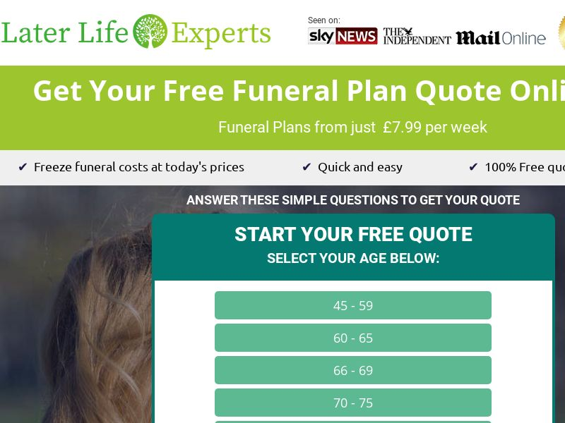 Later Life Experts - Funeral Plan (24/7) [UK]