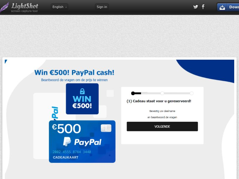 WinAds - PayPal €500 Credit (NL) (CPL) (Personal Approval)