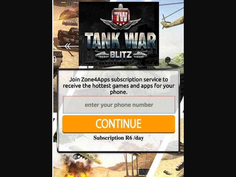 War Tank - 1 click - ZA - CellC - Online Games - Mobile