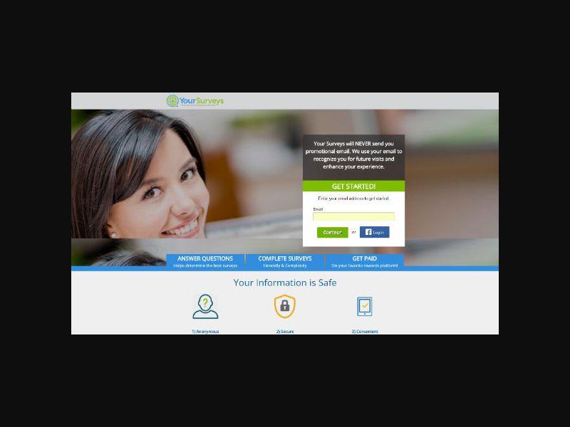 Your-Surveys.com (UK) Incentive