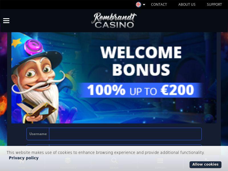 RembrandtCasino.com Casino CPA - DE, NL, FI, NO, NZ & CA