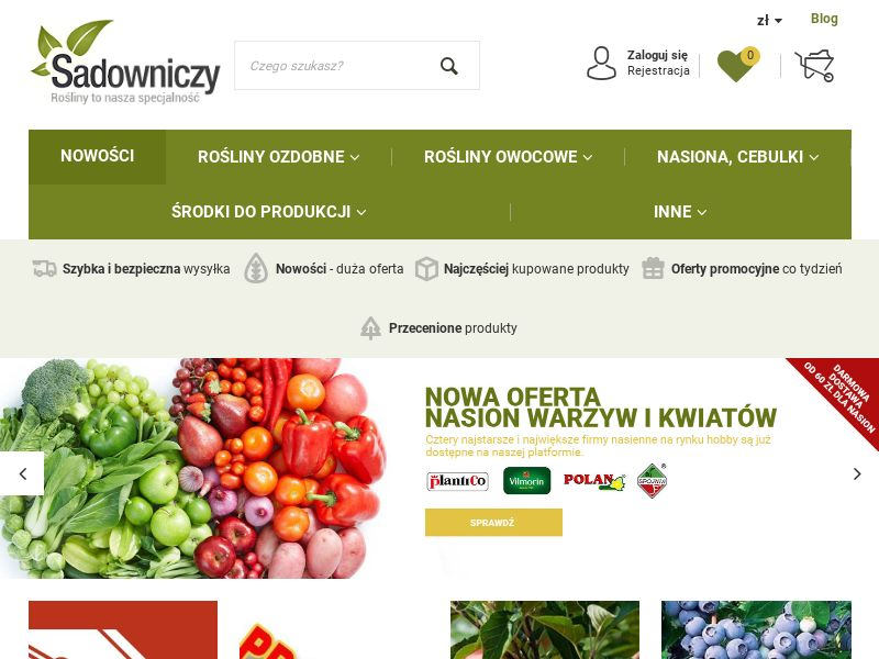 Sadowniczy.pl (PL), [CPS], House and Garden, Garden, Sell, shop, gift