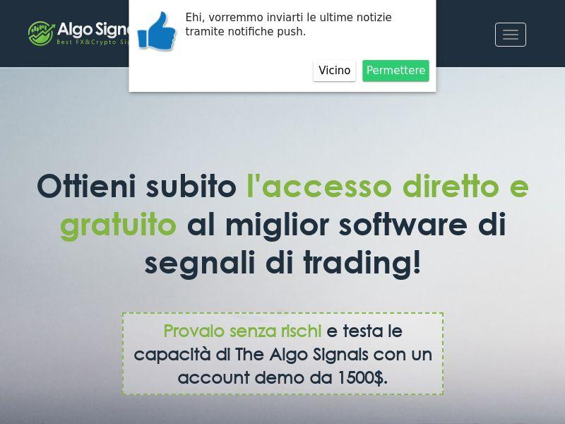 The Algo Signals Italian 1085