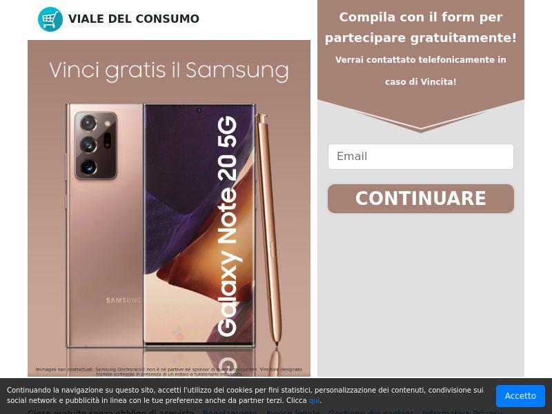 Viale del Consumo - Galaxy Note 20 (IT) (CPL) (Personal Approval)