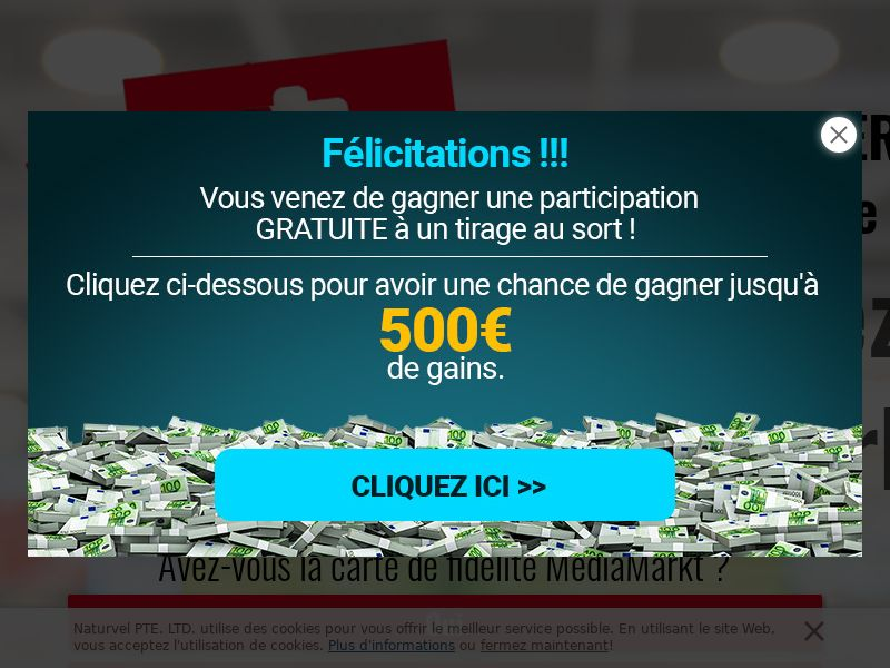 Sweepstakes MediaMarkt 500€ - CPL - [BE | French speaking]