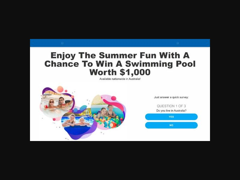 Aussie Prizes - Win a $1000 Swimming Pool