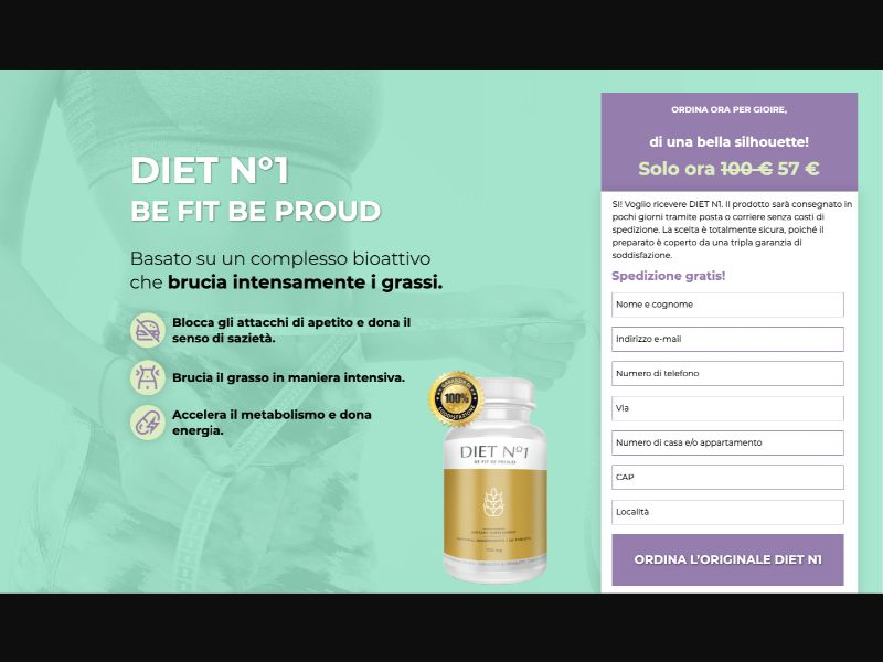Diet One - CC Submit - IT - Well-being - Responsive