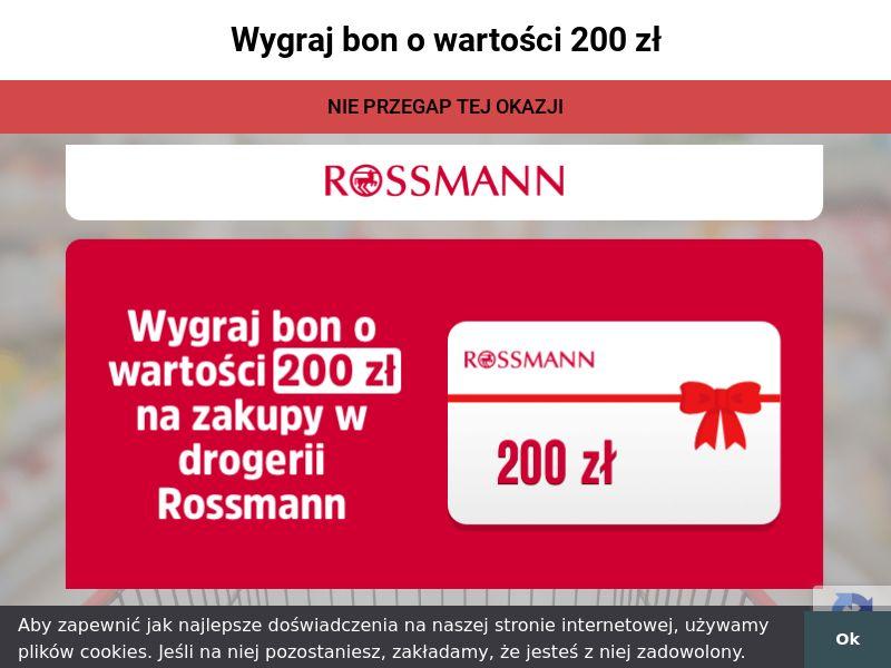 Rossmann - Bon 200 zł (PL), [CPL]