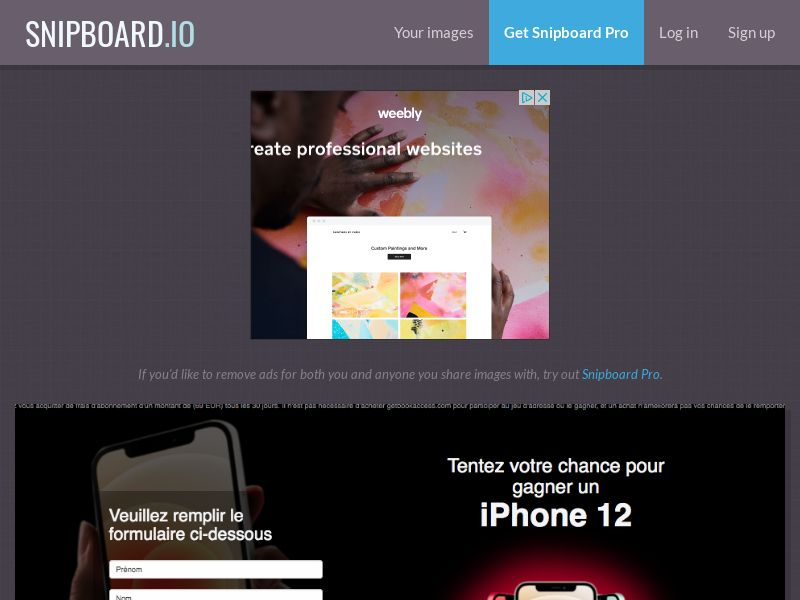 BigEntry - iPhone 12 v1 FR - CC Submit