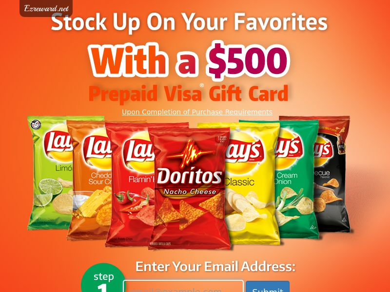 Lays Chips Sweepstakes CPL - USA (*Incent)