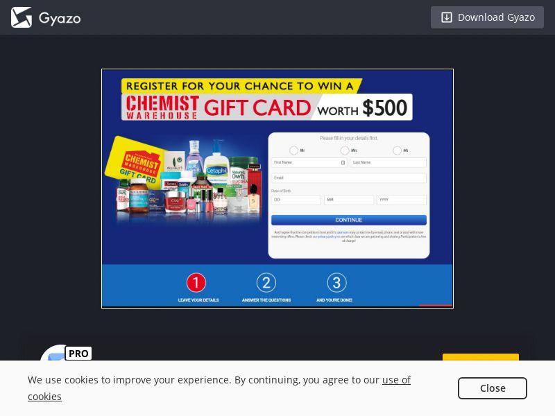 Chemist Gift Card (NZ) (CPL)